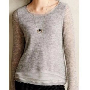 Anthro  Knitted & Knotted Aleesia V neck Sweater